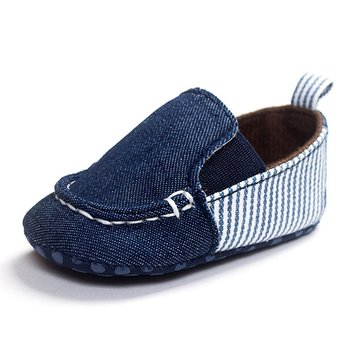 Baby Cowboy Canvas Soft Sole Prewalker Shoes Toddlers Casual Flats