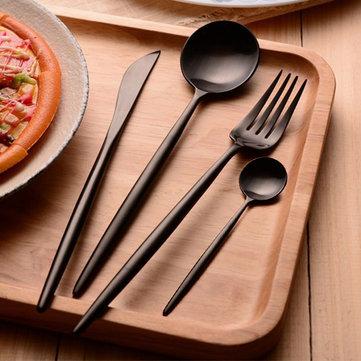KCASA Fl2 4 pedaços de alimentos de grau 304 talheres de aço inoxidável conjunto talheres matte talheres talheres