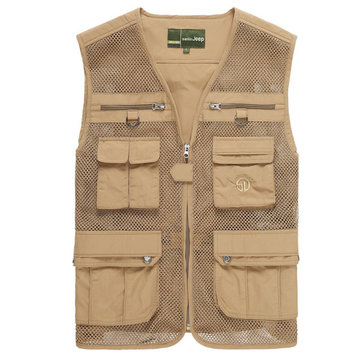 Buy senlin Jeep Mens Multi Functional Outdoor Fishing Vest Breathable Quick Dry Mesh Tactical Sleeveless