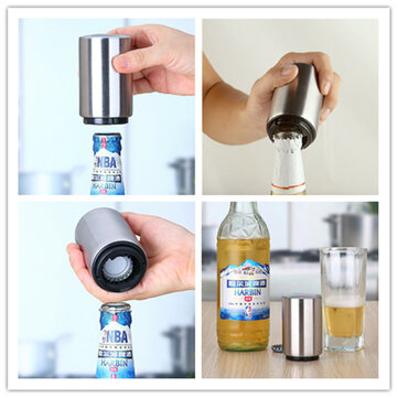 Buy Stainless Steel Automatical Automatic Beer Bottle Opener Juice Drinking Openers