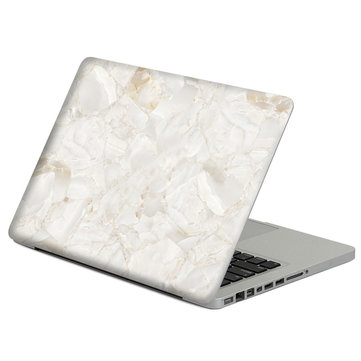 Removable Marble Pattern Self-adhesive Front &Black Skin Sticker For Macbook 12 Inch