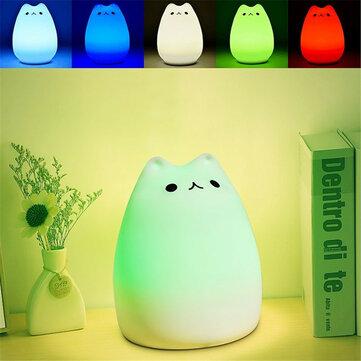Recargable de color cambiante de silicona LED Control sensible del grifo luz de la noche para el hogar
