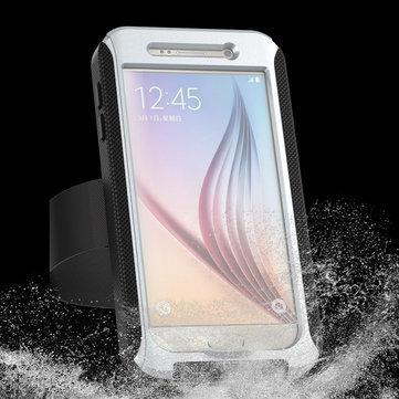 Caso la protección resistente a prueba de agua serie de anuncios ipx68 con banda para el brazo para Samsung Galaxy s6