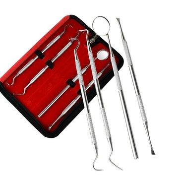 4pcs soins buccaux dents nettoyage outil anti brouillard miroir racloir scaler sondes dentaires sculpter la cire