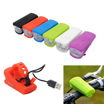 Buy Bike Bicycle USB Light Front Led Lamp Rechargeable Silica Gel Safety Cycling Riding