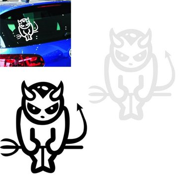 Owl Reflective Car Sticker Demon Skull Motorcycle Waterproof Decal 14CM*13CM