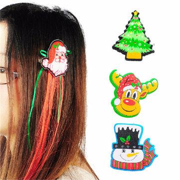 Lindo broche para el cabello accesorios del partido de la decoración de navidad santa navidad 4 estilos