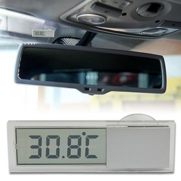 Transparent Cars Thermometer Automobile Thermometer Suction Cup Osculum Type