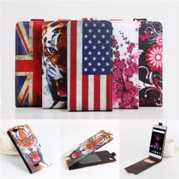 Flip Painted PU Leather Protective Cover Case For Cubot X16 X17 5 Inch