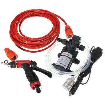 60W 12V High Pressure Car Portable Washer Water Pump Set Water Gun Fuse