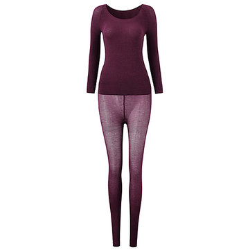 Women 37 Degree Thermostated Super Thin Thermal Seamless Body ...