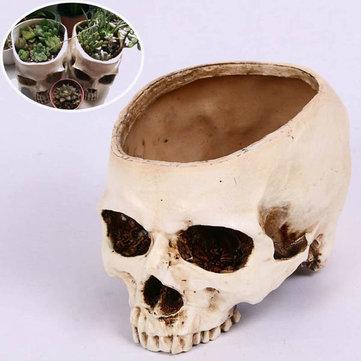 Buy Halloween Skull Horrible Flower Pot Resin Artifical Head Flowerpot Decoration
