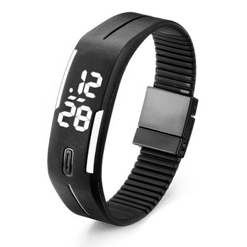 B4A Unisex Casual LED Rectangle Sport Digital Bracelet Watch