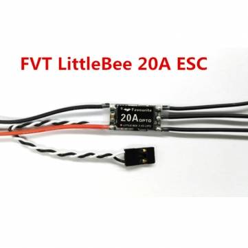 FVT LittleBee 20A ESC BLHeli OPTO 2-4S Supports OneShot125 For RC Multirotors