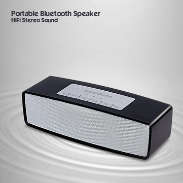 Portable HIFI Bluetooth Speaker Wireless Stereo Loudspeakers Bass Sound Box