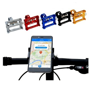 Aluminum Alloy Bicycle Bike Phone Holder Handbar Clip Stand Mount Bracket For Android IOS Phone