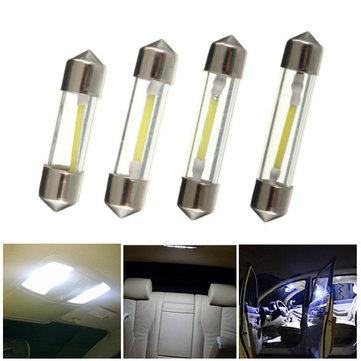Bianco 31 millimetri / 36 millimetri / 39 millimetri / 42 millimetri pannocchia filamento LED festone luci di vetro licenza cupola di luce di lettura