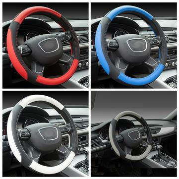 Universal 38cm PU Car Steering Wheel Cover Rubber