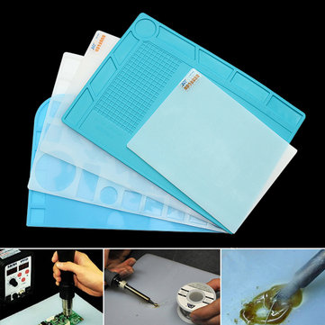 Heat-resistant Silicone Pad Desk Mat Heat Insulation Maintenance Platform BGA Soldering Repair Station - 5 Styles for Option