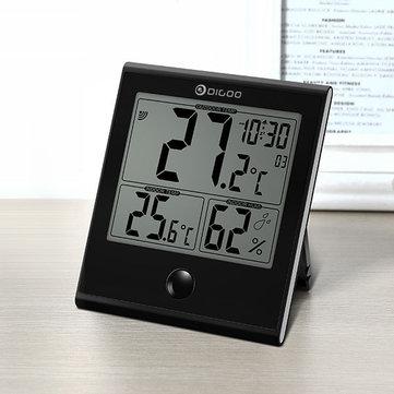 Digoo DG-TH1180 Home Confort Intérieur et Extérieur Verre Panneau Thermomètre Hygromètre Humidité Surveillance