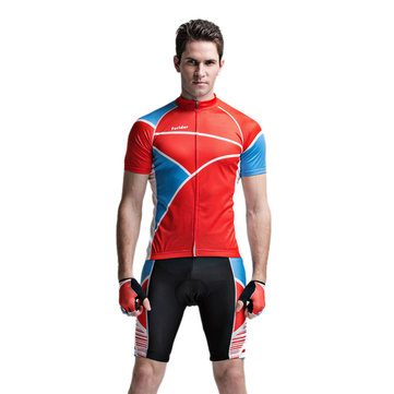 Forider Mens Sports Riding Cycling Jersey Summer Bicycle Short Sleeve Suit Polyester Fabic Shorts Quick Dry 1063163