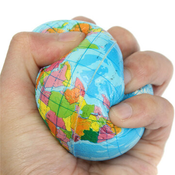 Buy 7.5cm World Map Globe Toy Foam Earth Stress Relief Ball Geography Education