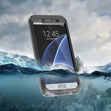 Caso impermeável escudo à prova de choque caso ecrã táctil capa protetora para Samsung Galaxy S7 edge / g935r