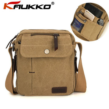 KAUKKO Men Women Canvas Shoulder Bag Outdoor Multifunctional Sports Packet