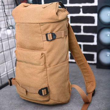 Large Capacity Men Canvas Travel Hiking Backpack