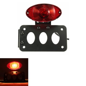 Motorcycle License Plate Brake Tail Light With Bracket For Harley Street Cruiser Chopper Yamaha BMW