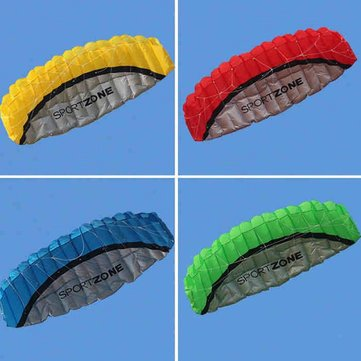 2.5m Huge Frameless Stunt Parafoil Flying Kite Dual Lines Control with 30m Line + 1 Line Board