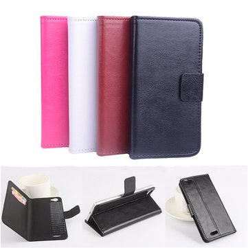 Magnetic Flip Leather Card Pocket Stand Case Cover For CUBOT X16/X17 5 Inch