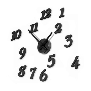 Buy Black 3D Wall Clocks DIY Big Numbers Watch Sticker Decal Home Decor
