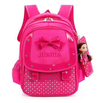 Buy Cute Girls Backpack Children Bowknot School Bag Large Capacity Orthopedic