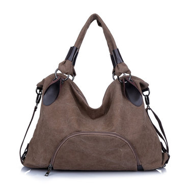 Original Women Multi Pocket Canvas Bags Casual Handbags Totes Ladies Shoulder Bags Crossbody Bags