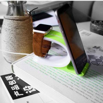 Telefone suporte de carregamento de silicone doca estação de titular para montar relógio de maçã 38/42 milímetros