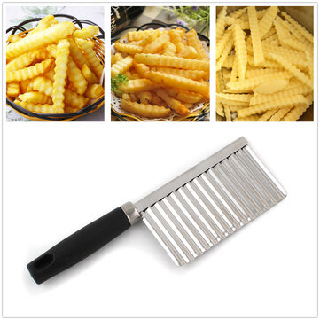 Buy Stainless Steel Potato French Fries Wavy Cutter Peeler Knife