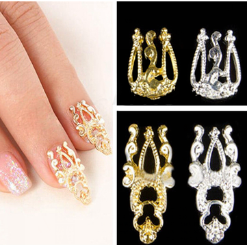 Buy 1Hollow Metal Gold Silver 3D Nail Art Glitter Alloy Decoration Stickers Decals Elegant