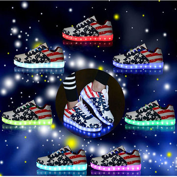 USB Unisex LED Light Casual Shoes