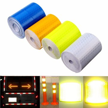 5cm X 300cm Reflective Safety Warning Conspicuity Tape Film Car Sticker