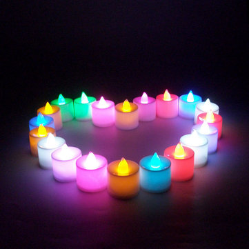 Buy Led Light Candle Flameless Colorful Tea Lamp Electronic Party Wedding Decor