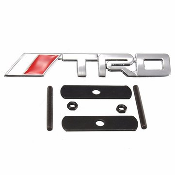 Buy Auto Car 3D Metal Chrome Silver TRD Logo Front Grille Grill Badge Emblem TOYOTA