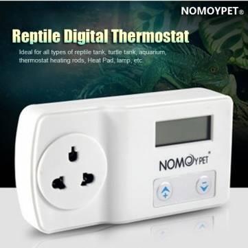 Nomoy 220-240v reptil termostato digital calor pad mat lámpara terrario regulador de temperatura del