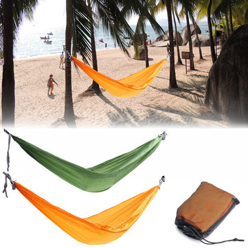 Double Person Hammock Swing Bed Portable Parachute Sleeping Bed Travel Camping 270 X 150CM