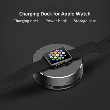 ARCHEER 3 in 1 Watch Dock Charger Portable Charger Power Bank Storage Case For Apple Watch