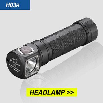 Buy SKILHUNT H03R CREE XM-L2 1200LM Multi-level EDC LED Flashlight Headlamp