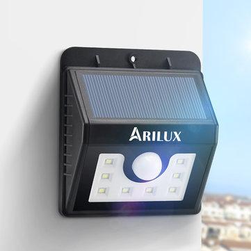 ARILUX® AL-SL01 Super lumineux 8 LED capteur solaire de mouvement solaire lampe de sécurité imperméable à l'air