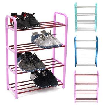 4 séries sapatos organizador de armazenamento de exibição de aço inoxidável toalha gabinete diy destacam prateleiras unidade de suporte de prateleira