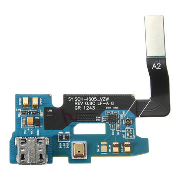 Micro USB Charging Port Flex Cable With Mic For Samsung Galaxy Note 2 Verizon i605