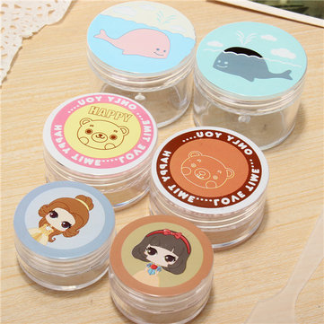 Buy Cute Pattern Mini Round Empty Bottle Jar Cream Lotion Container Makeup Cosmetic Travel